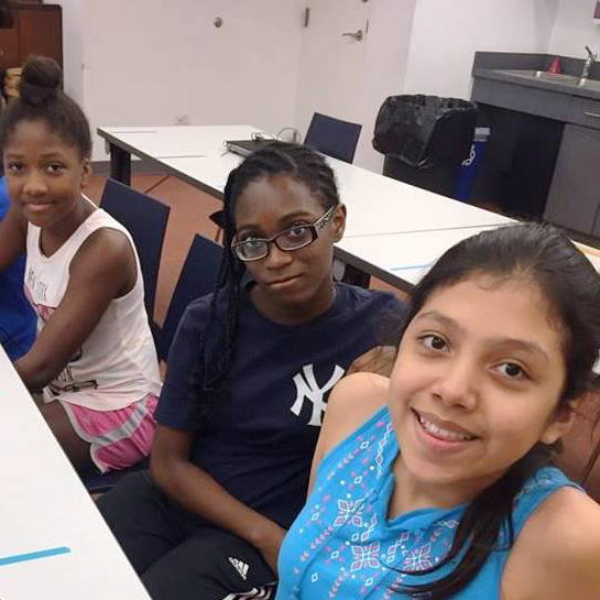 photo of teens in computer lab