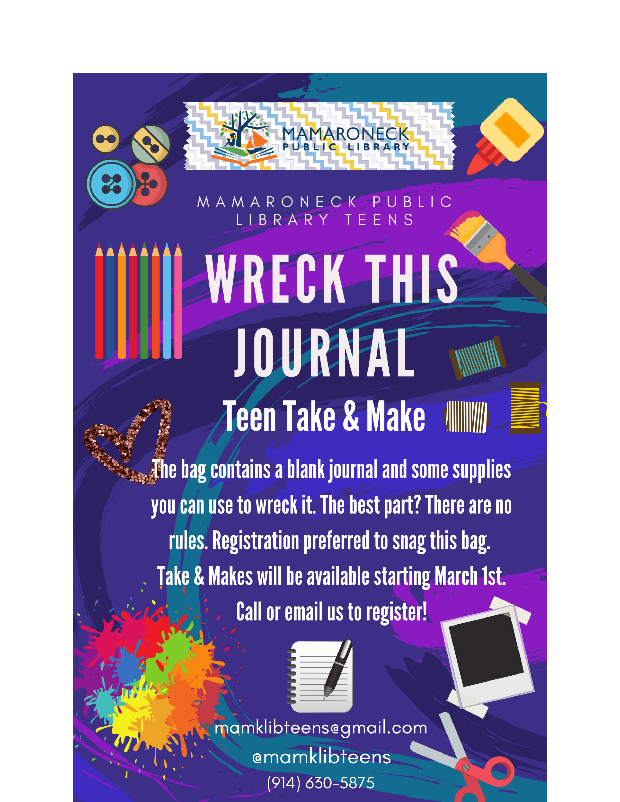 Wreck This Journal - Teen Take & Make