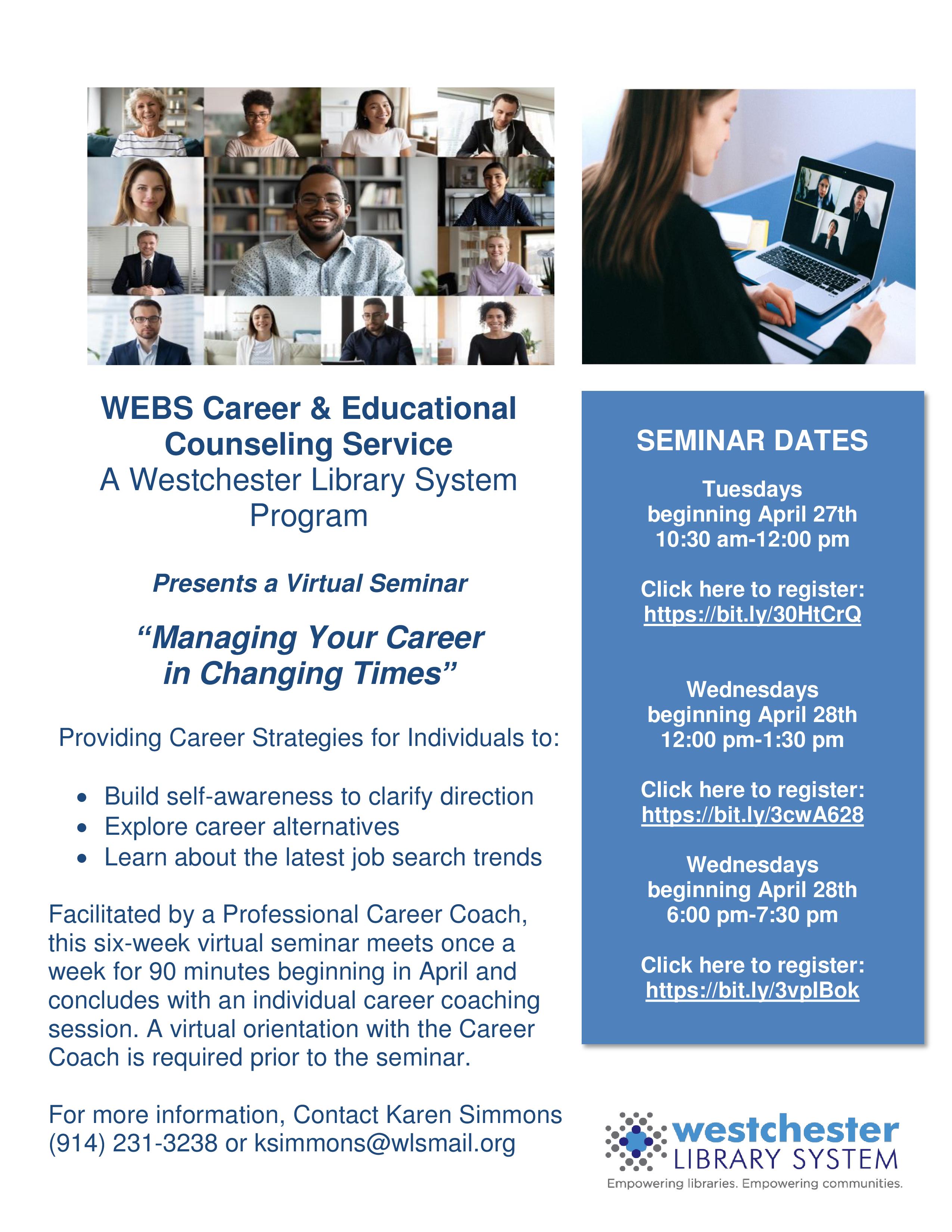 WEBS Virtual Career Seminar