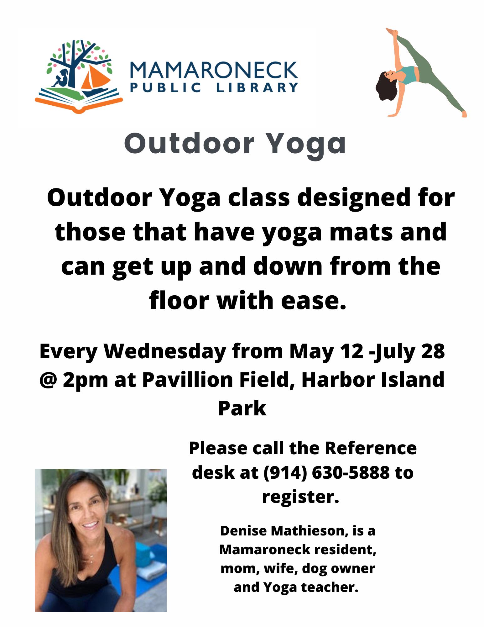 outdoor yoga harbor island park