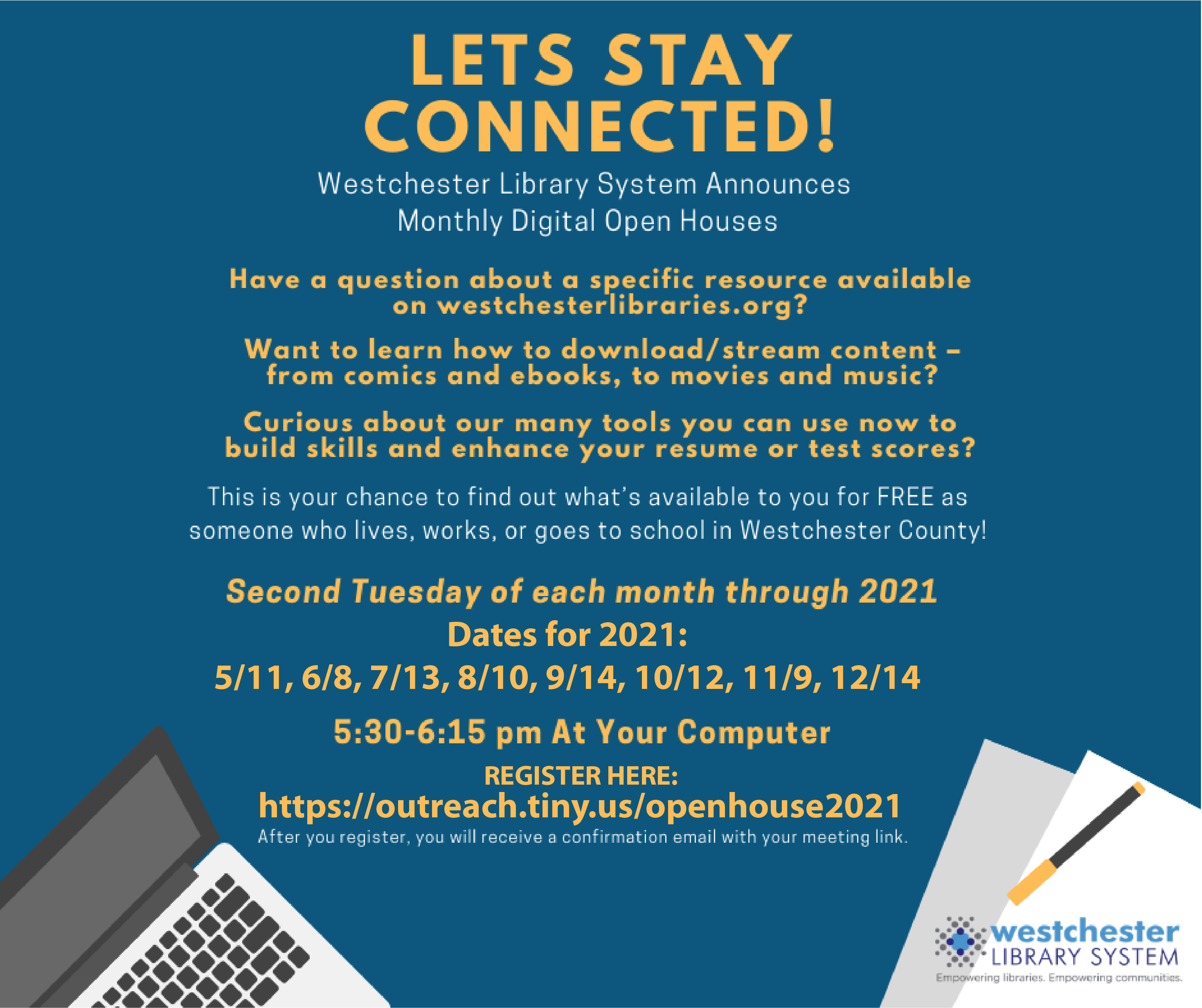 WLS monthly digital open house