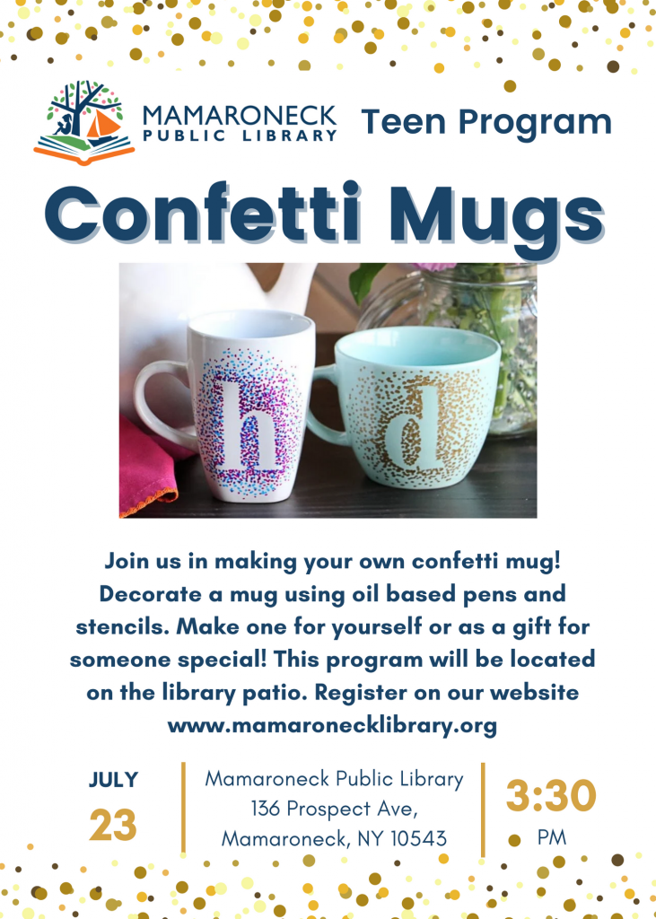 Teen program: Confetti Mugs