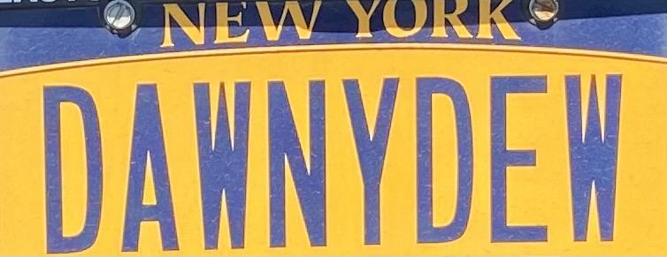Dawney Dew license plate