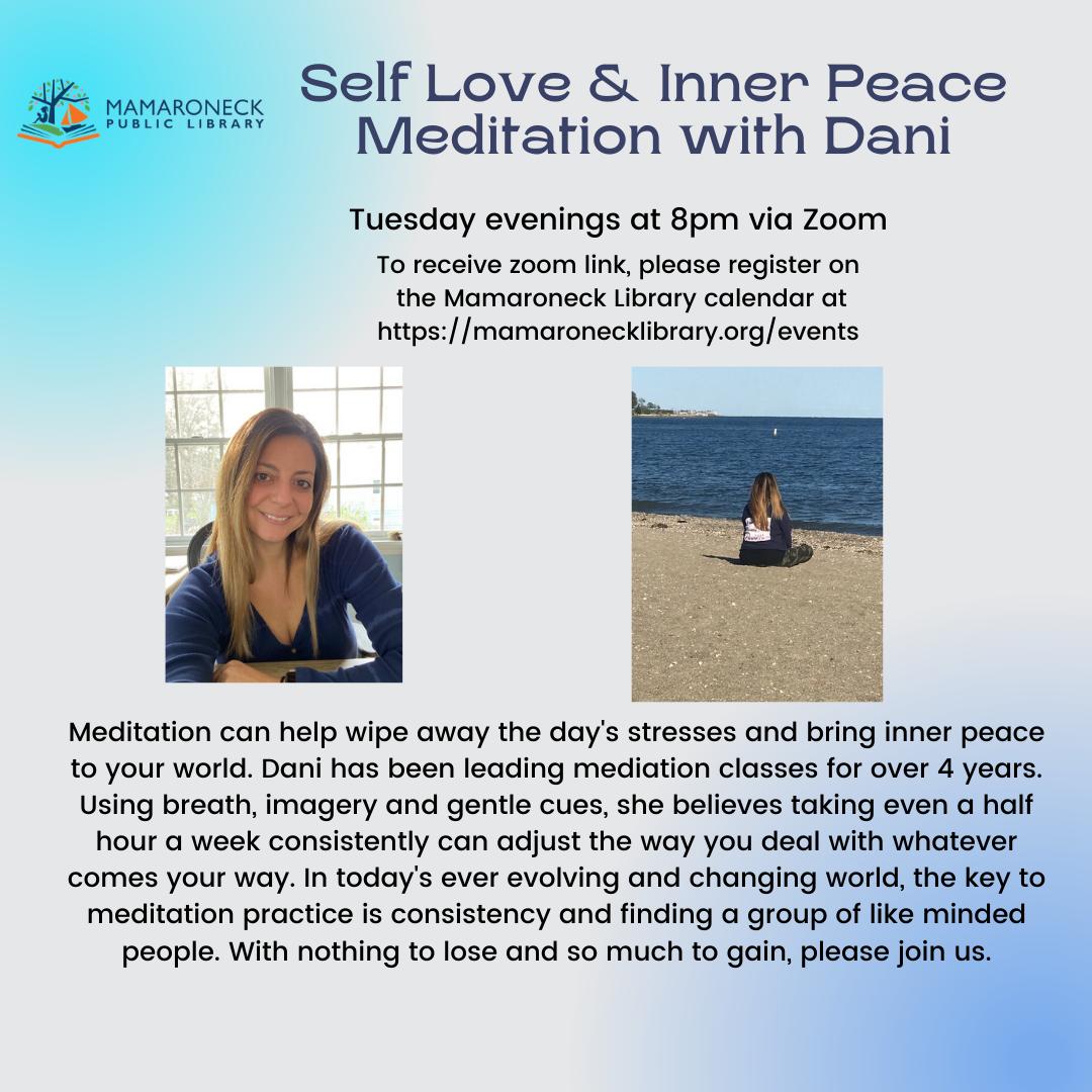 Tuesday night meditation class flyer