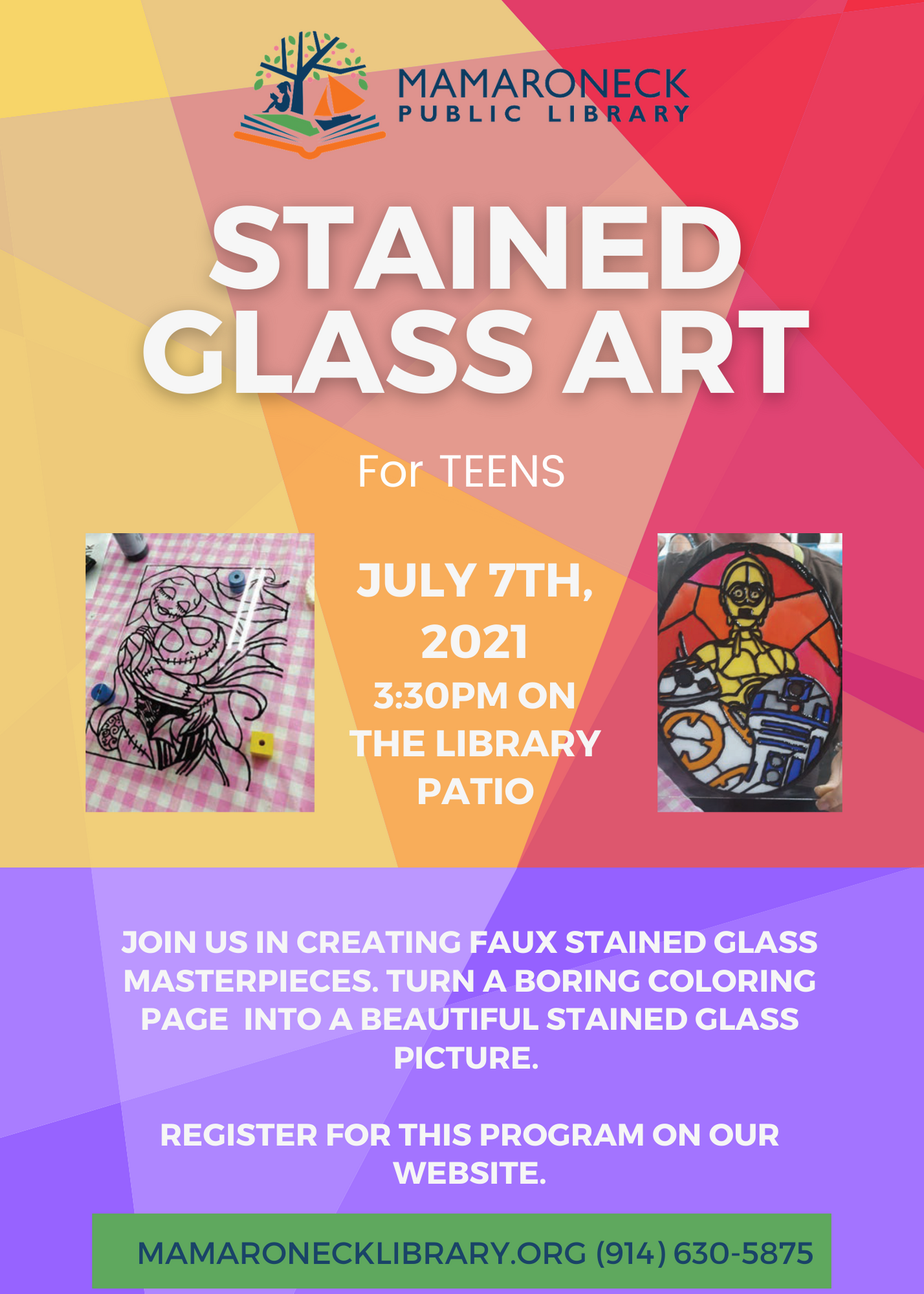 Teen program: stained glass art