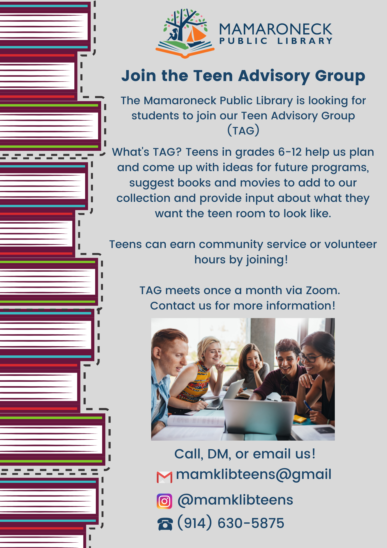 Teen Advisory Group meeting flyer