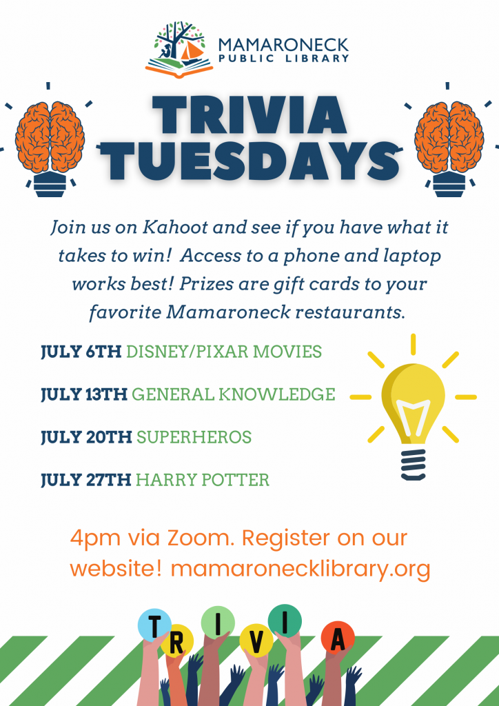 Trivia Tuesdays in July for Teens