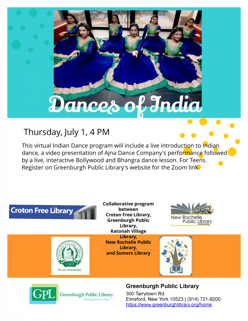 Dances of India program for teens