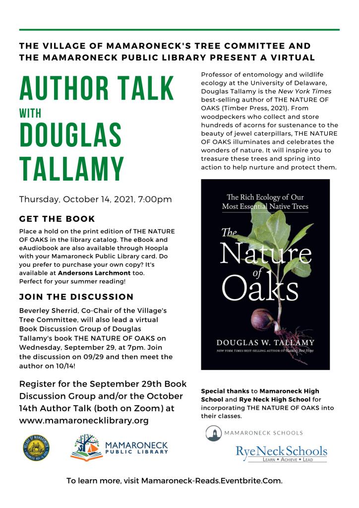 Douglas Tallamy author talk about Oaks