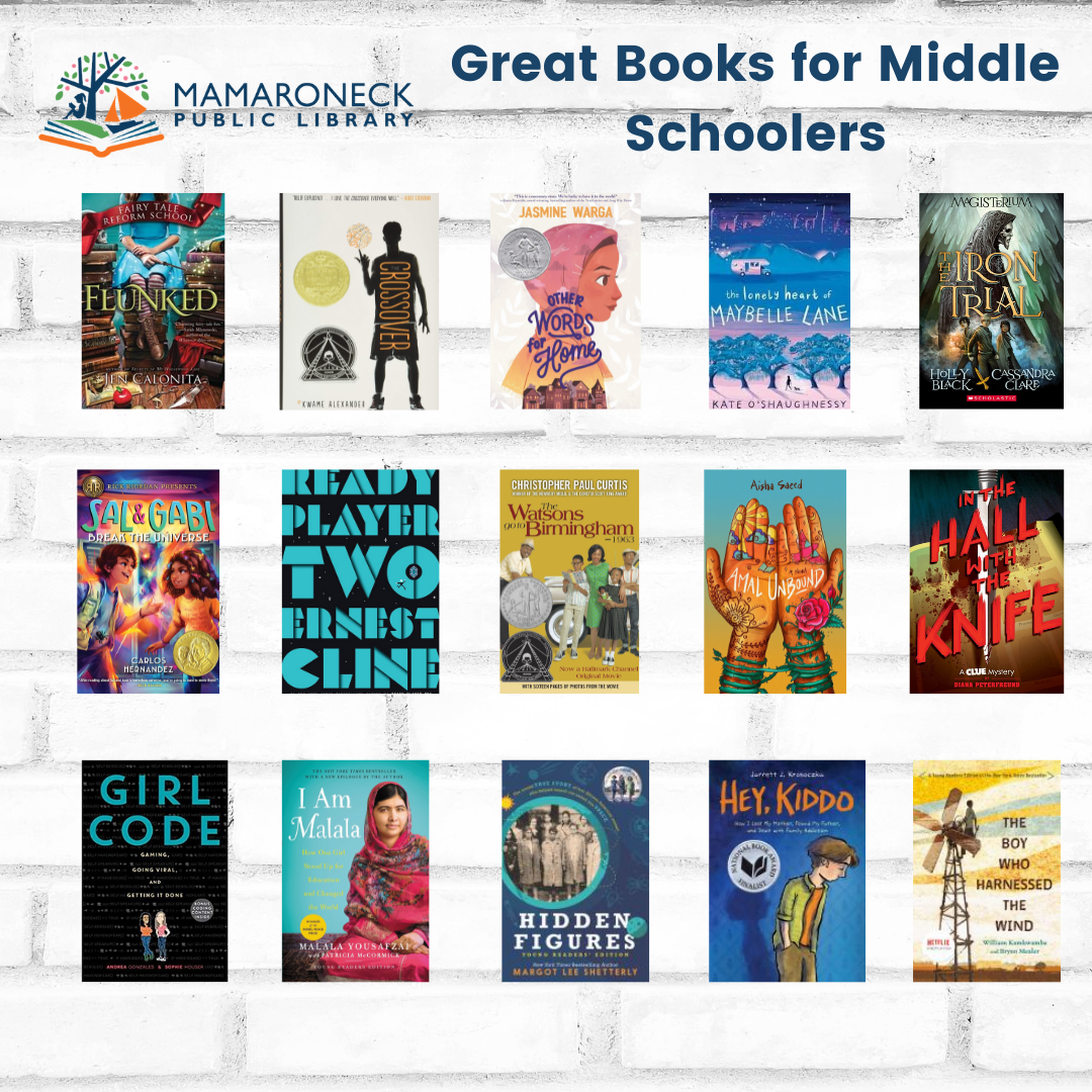 More great books for middle schoolers