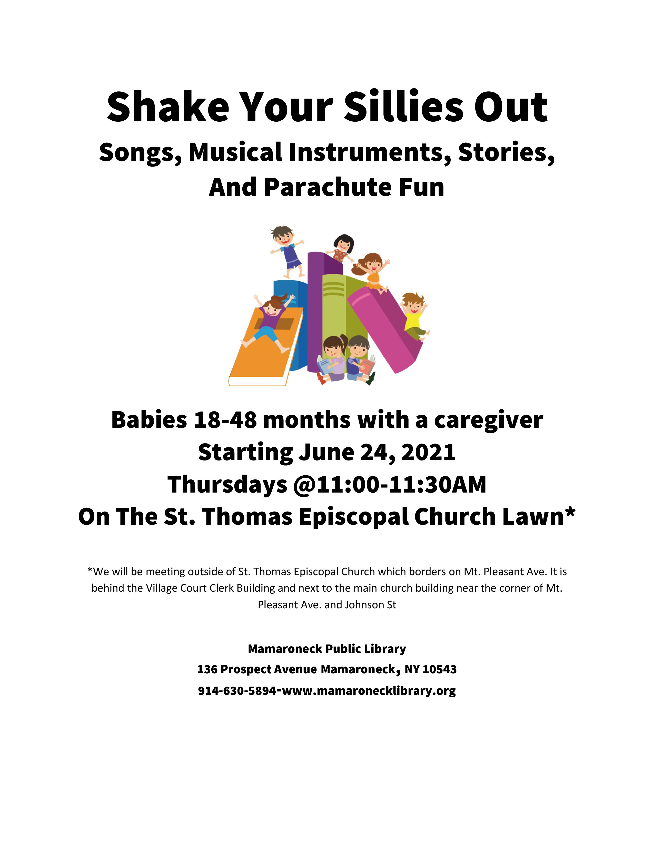 Shake Your Sillies Out live at St Thomas Church lawn - no registration