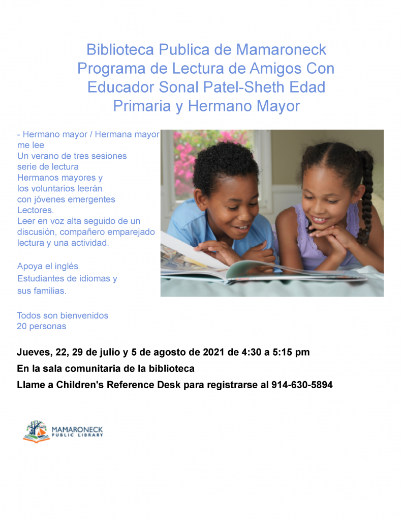 Buddy Reading Porgram for Children in Spanish
