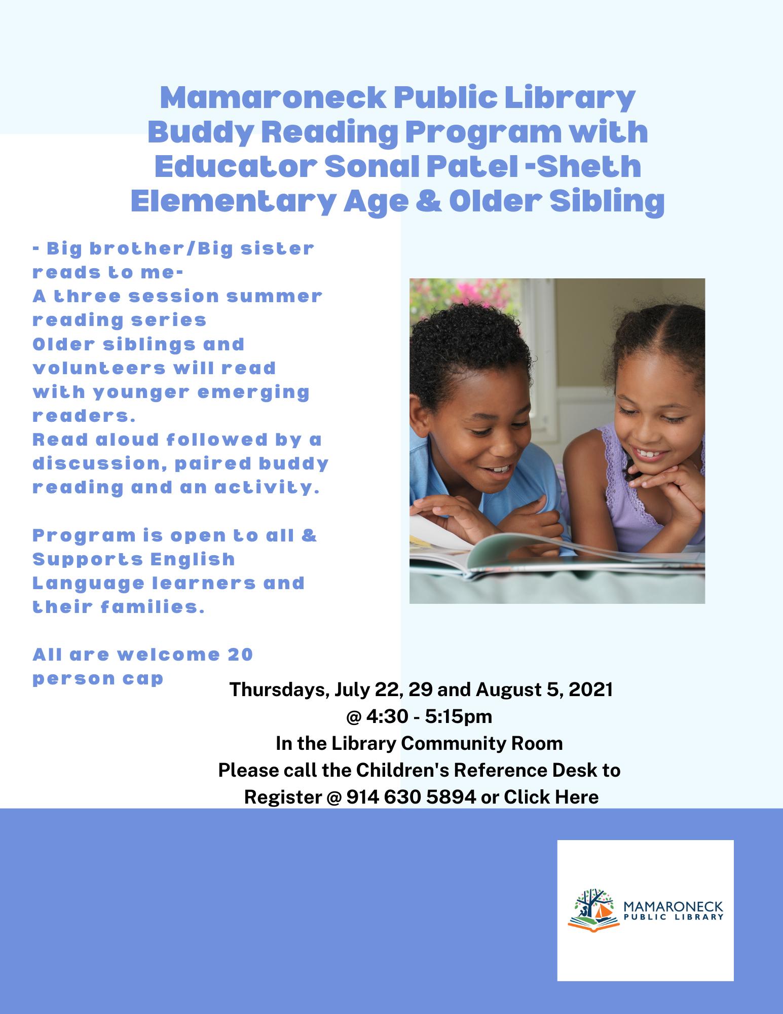 Children's Reading buddy program for school age children
