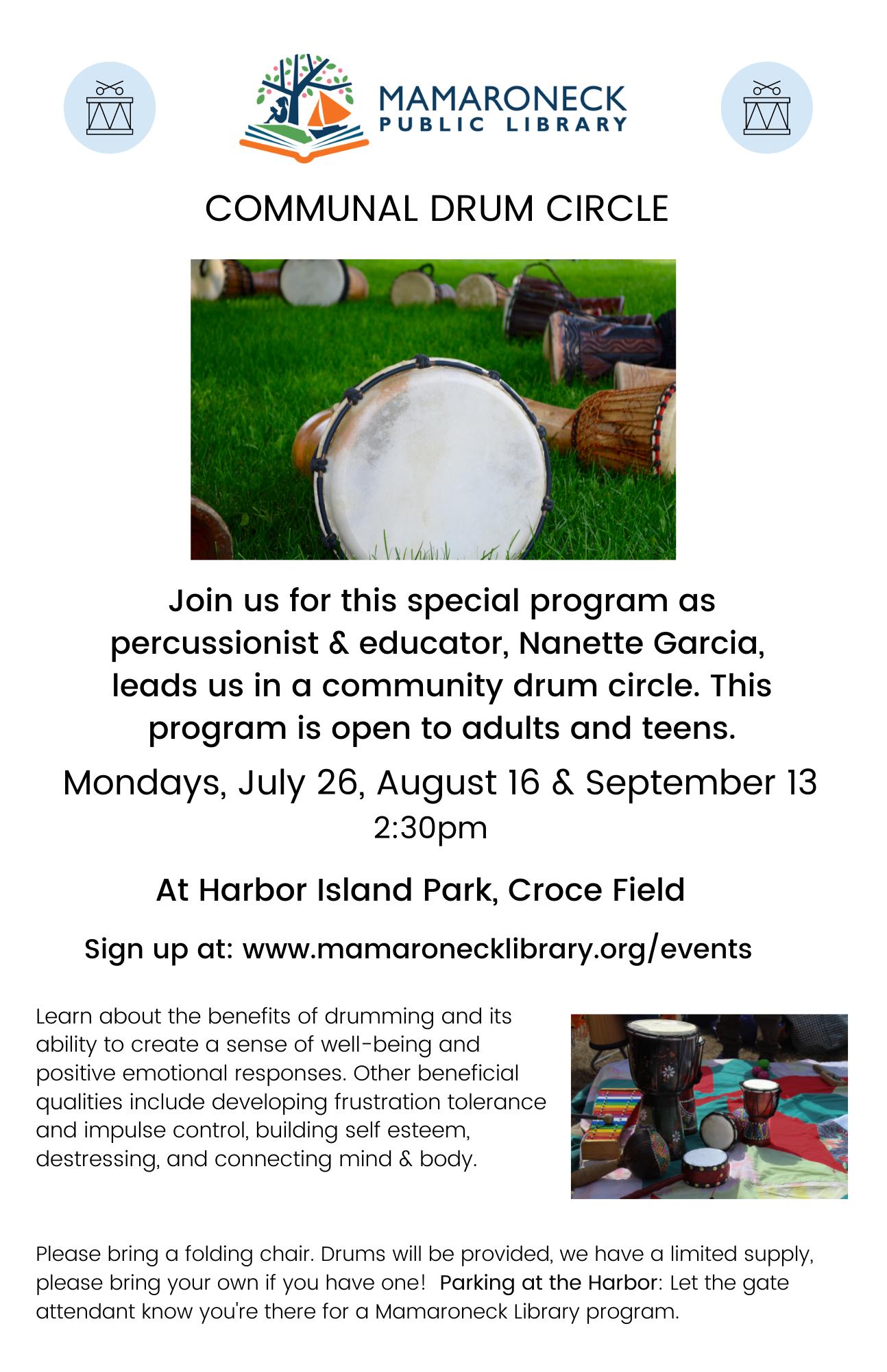 Communal Drum Circle event