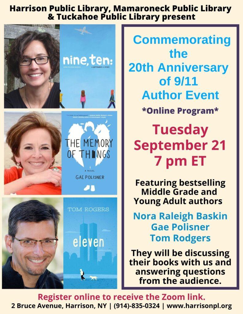 9/11 commemorative panel discussion 9/21 via zoom