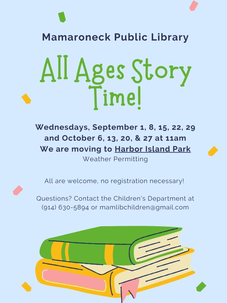 All Ages Storytime schedule for Fall 2021