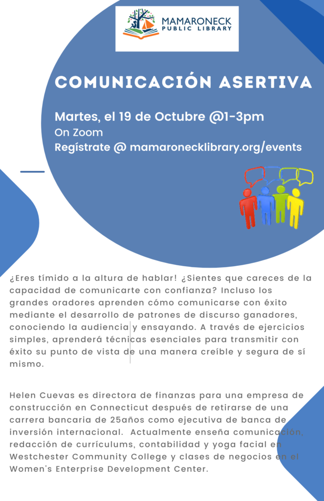 Flyer in spanish about Assertive Communications program