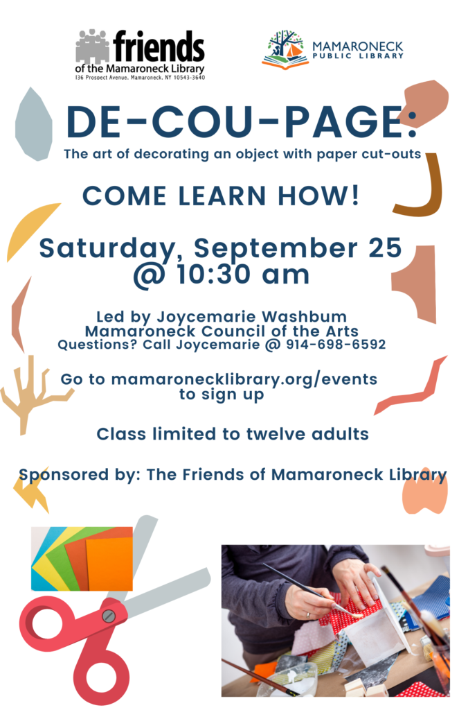 decoupage class - art of decorating an object with paper cut-outs