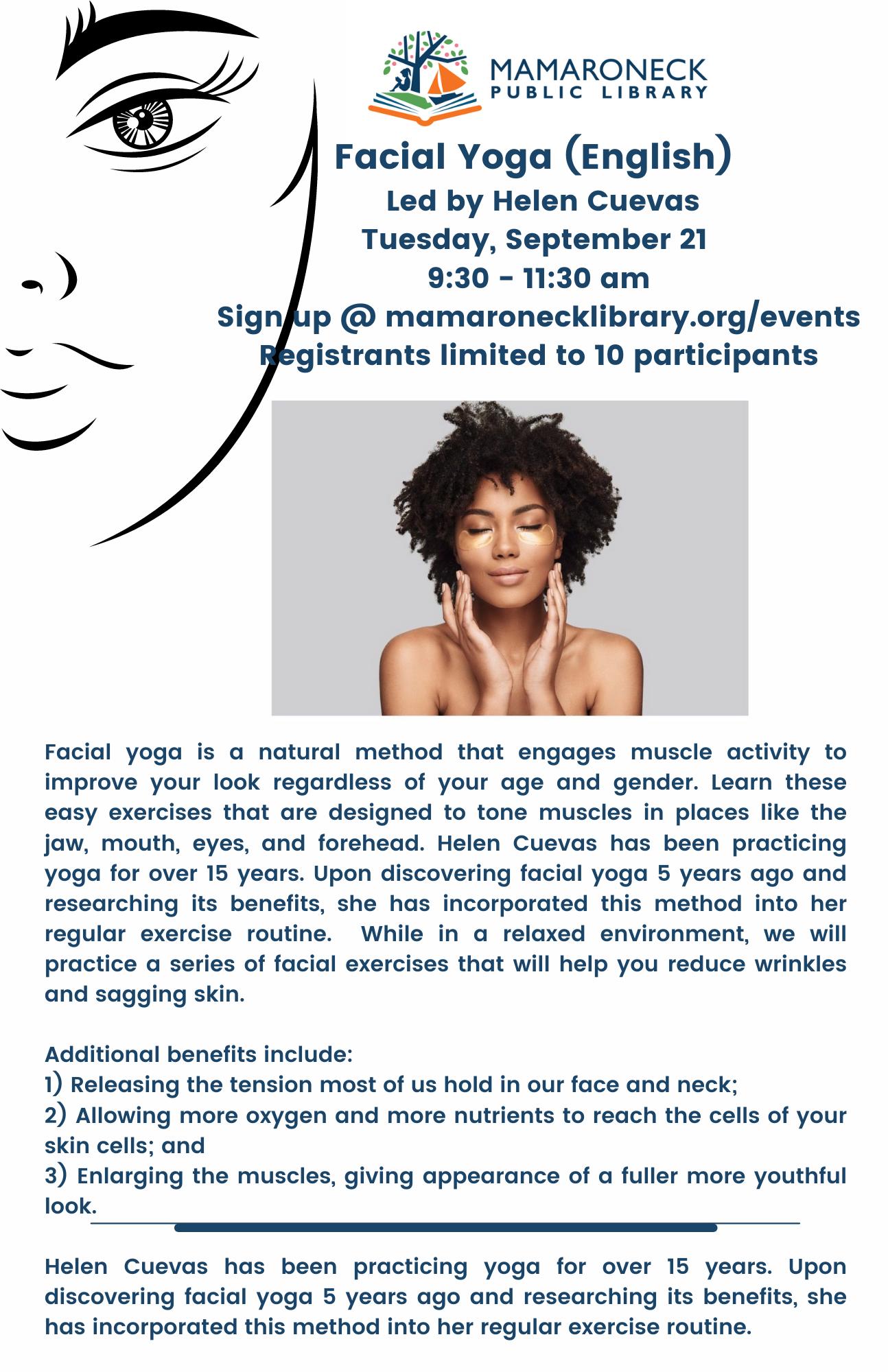 flyer for facial yoga program