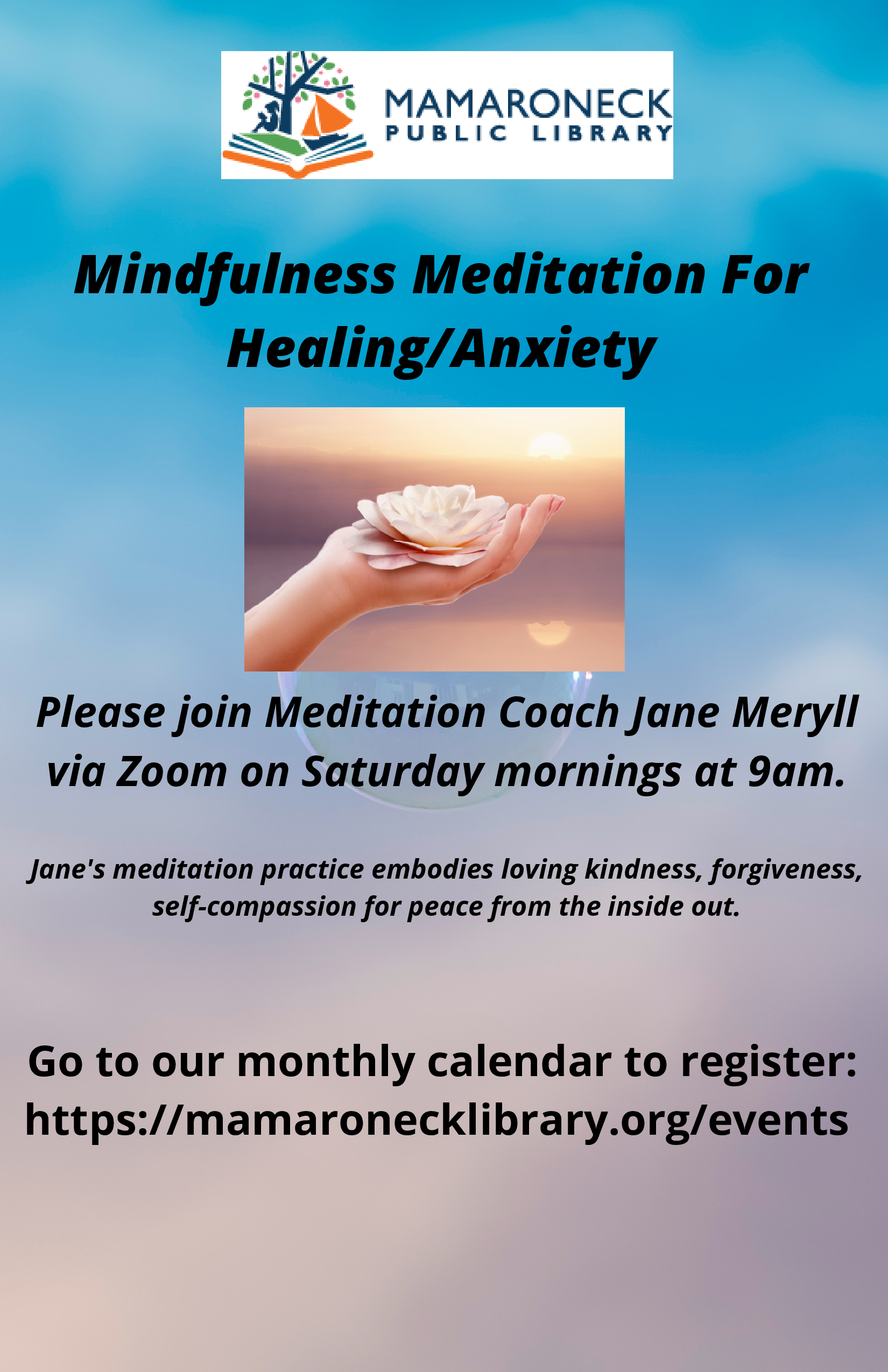 Meditation Class on Saturday morning via zoom