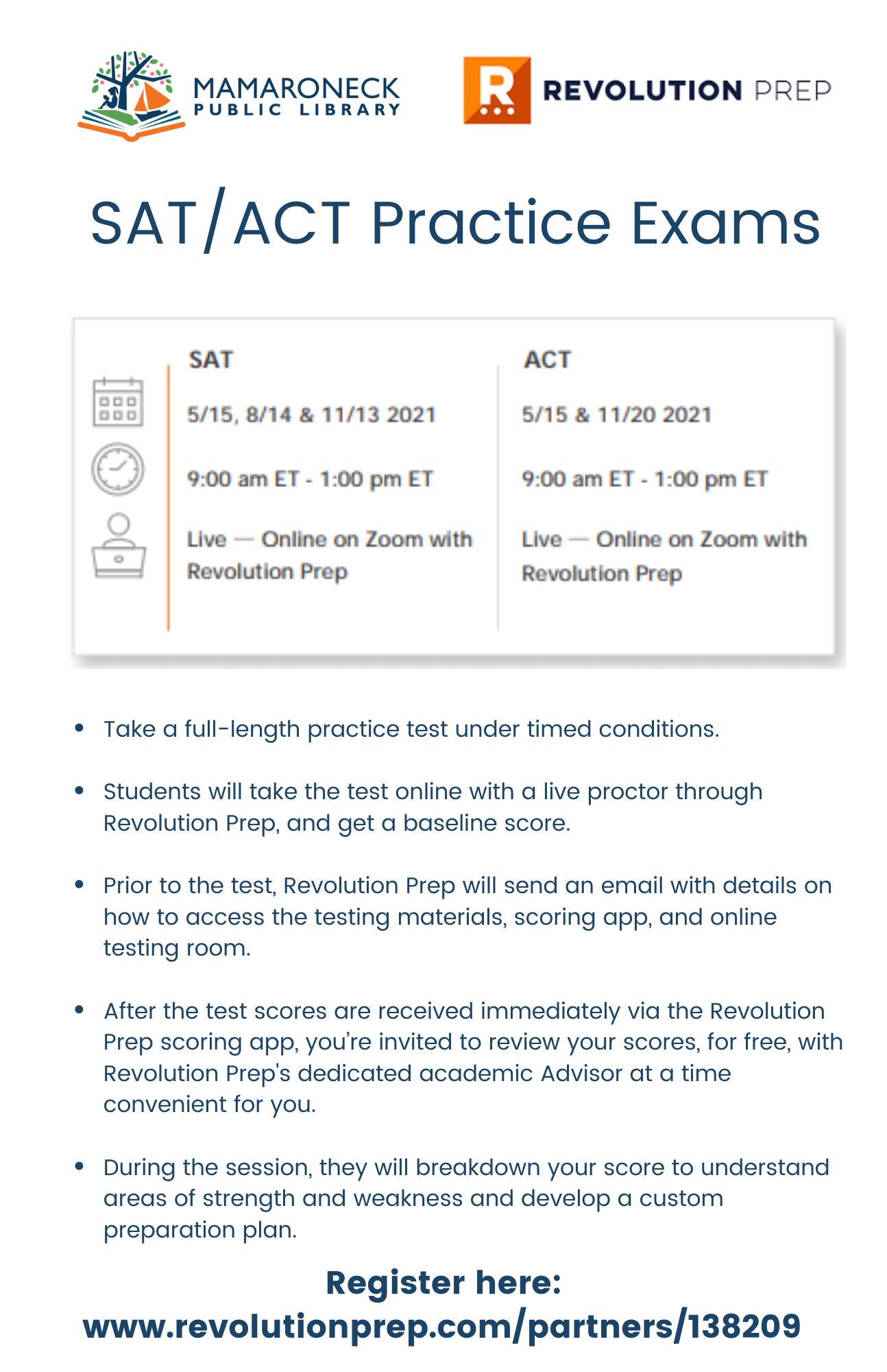 SAT practice test for teens
