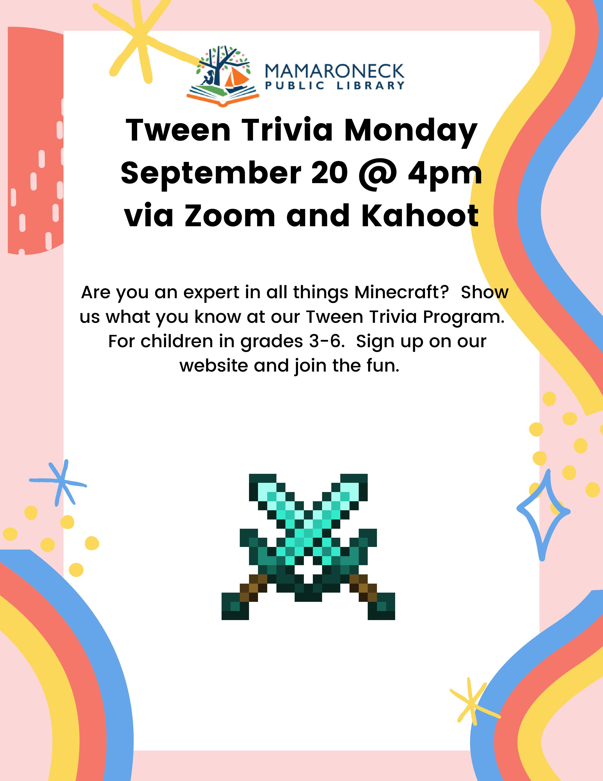 flyer: tween trivia