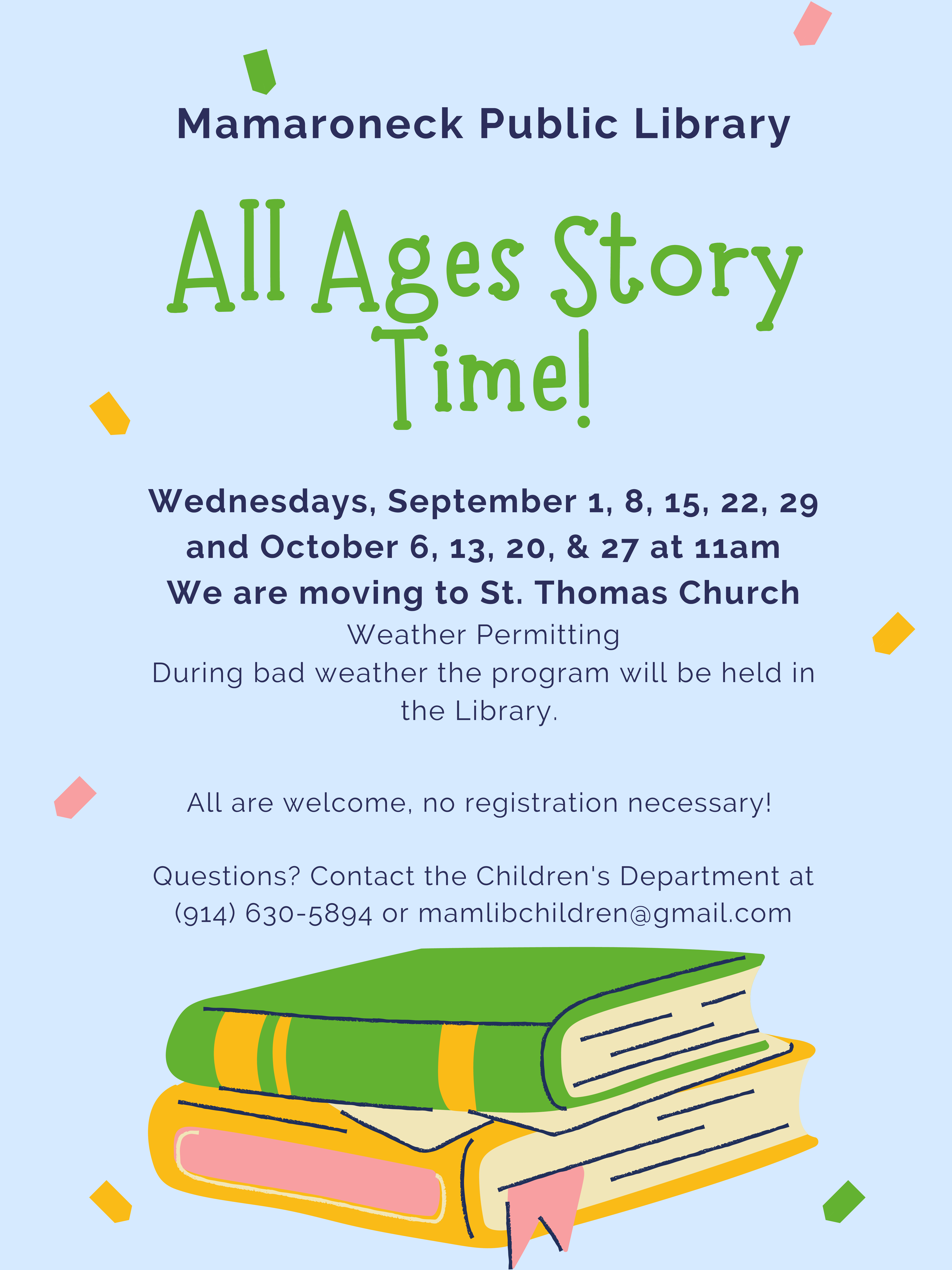All Ages Storytime at St Thomas church
