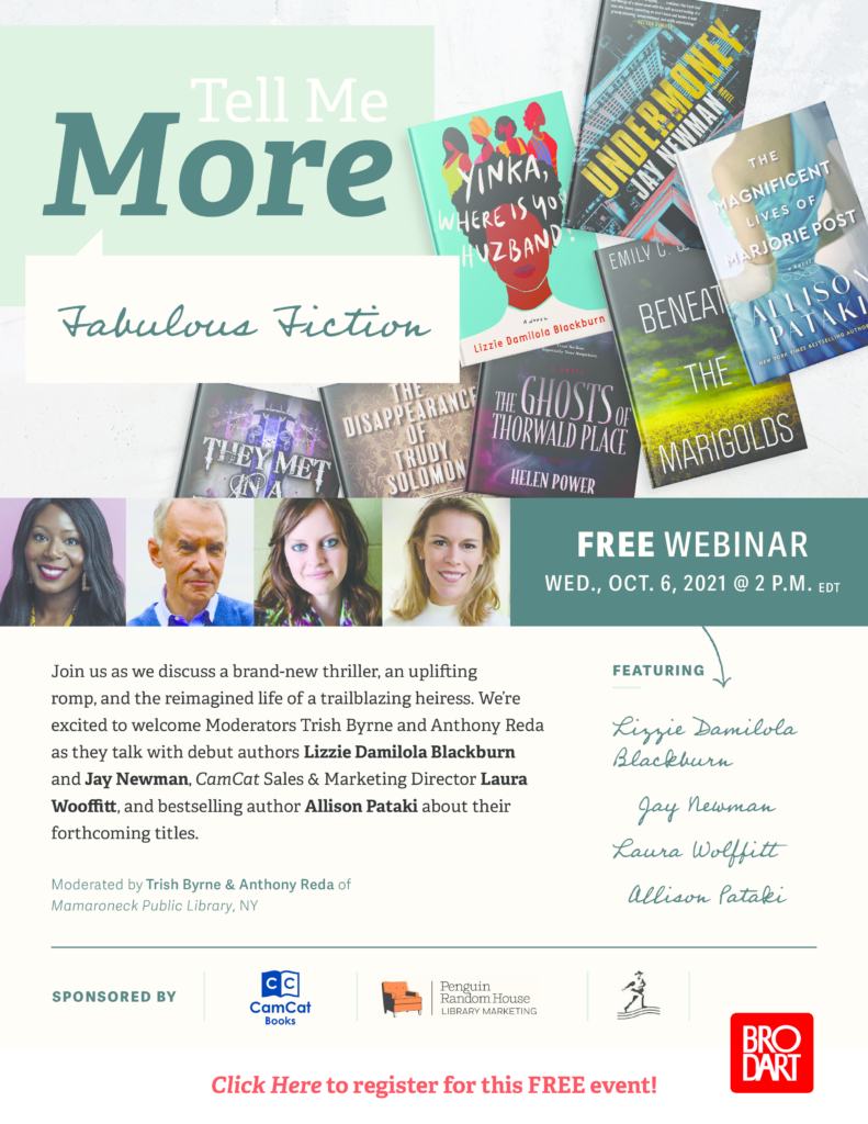 Author event via zoom hosted by Trish Byrne & Anthony Reda of MPL