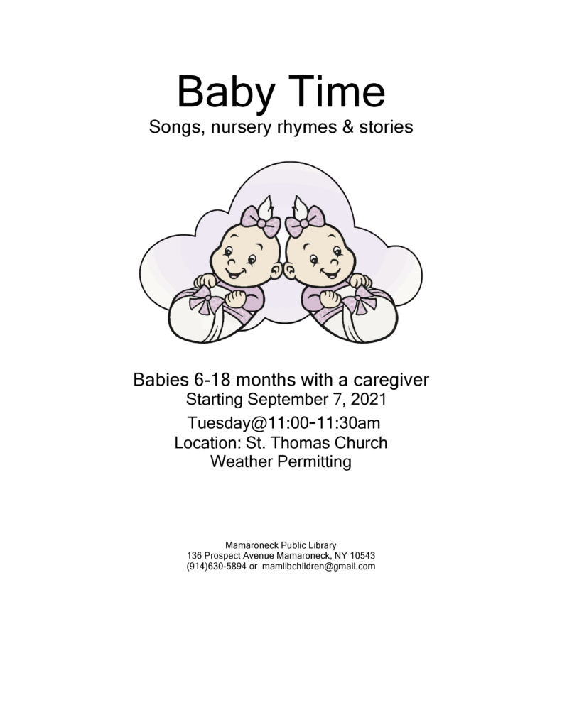 Baby Time at St Thomas Church fall schedule