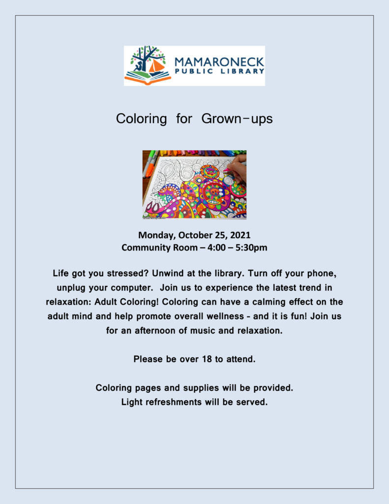 Adult Coloring in October