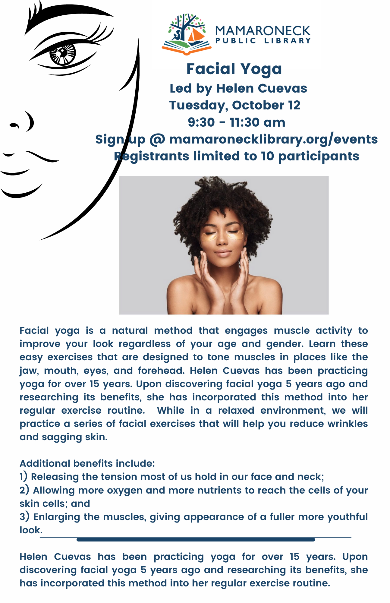 Facial Yoga for adults Oct. 12