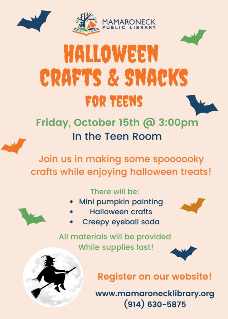 Teen Halloween crafts & snacks