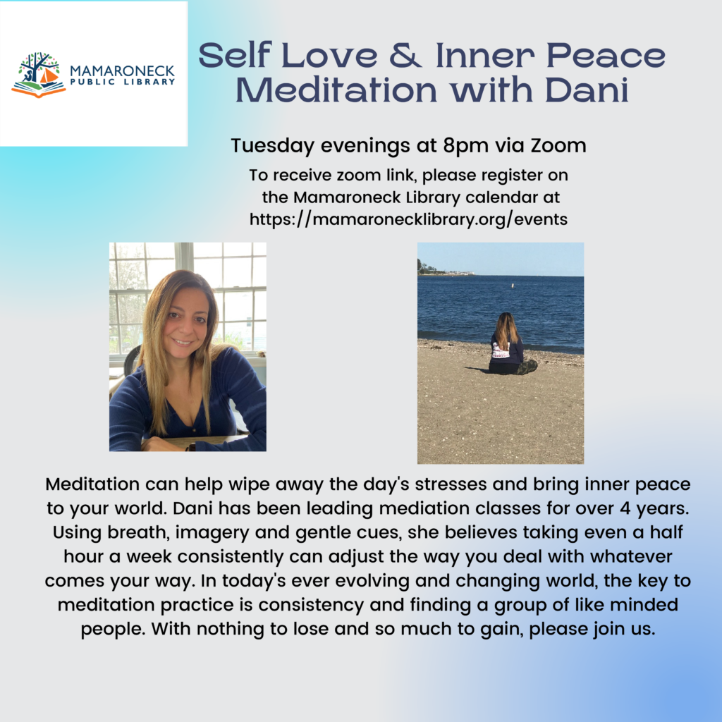 Self Love and Inner Peace meditation with Dani Tuesday nights