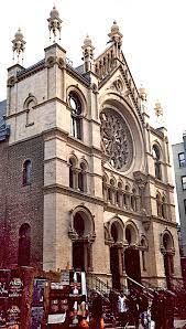 Eldridge Street Synagogue photo for Oct. 20th zoom meeting about synagogues of Manhattan and the Bronx