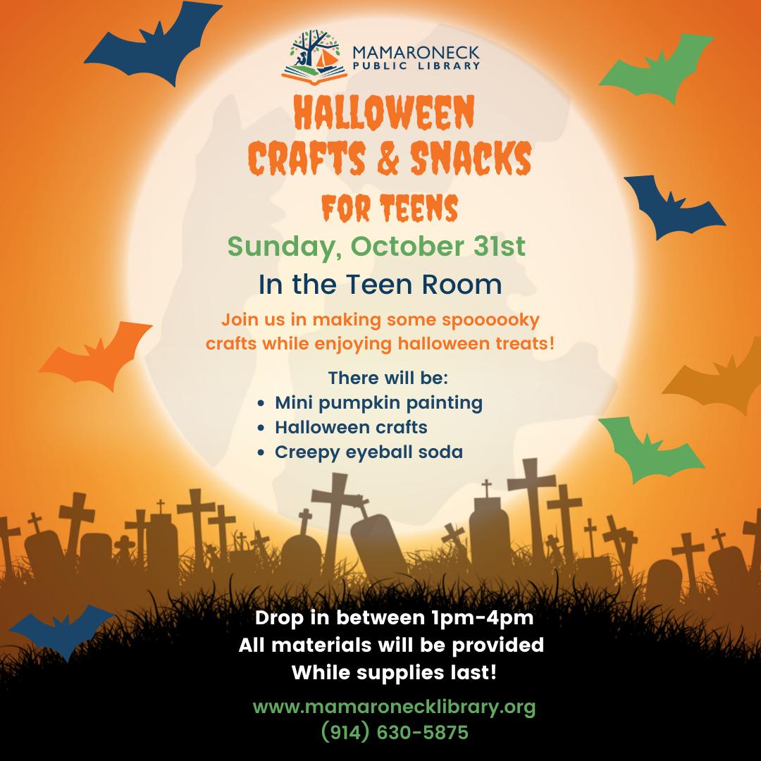 Teen Halloween program rescheduled for Halloween