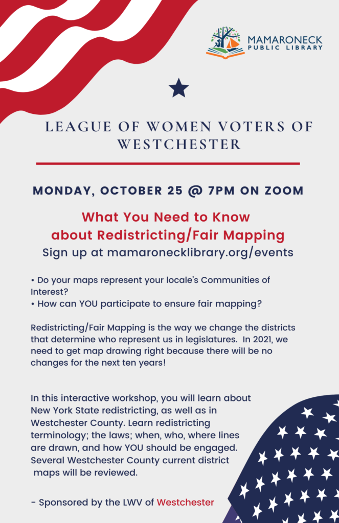 League of Women Voters webinar about redistricting