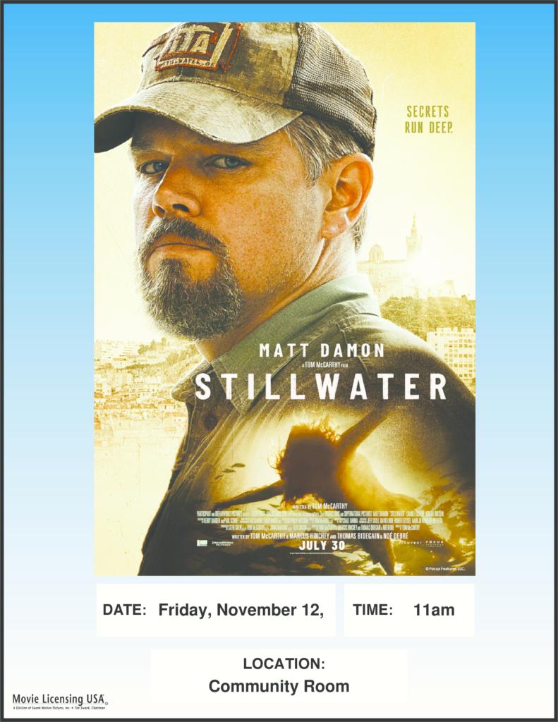 Flyer for November movie, Stillwater
