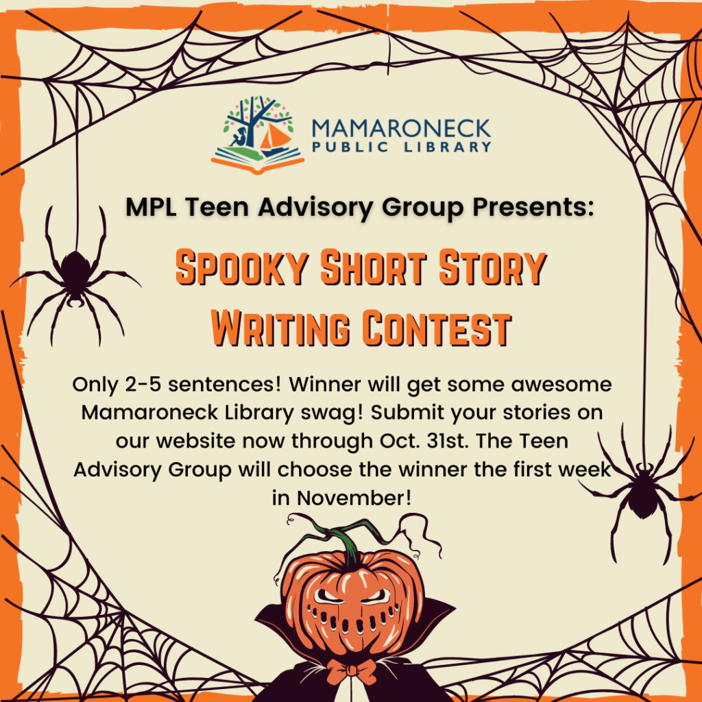 Teen short story writing contest for Halloween